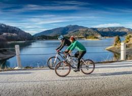 Mountain Biking at the Aoos Lake