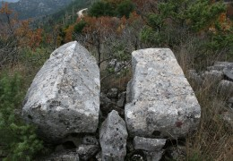 Medieval tombstones – Near the Church of St. Mihovil (Pozla Gora, Dubrave)