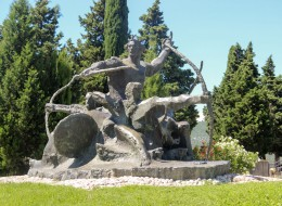 Sculpture of Prince Domagoj and his Archers